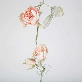 Vintage Peony Rose Garland Blush Pink