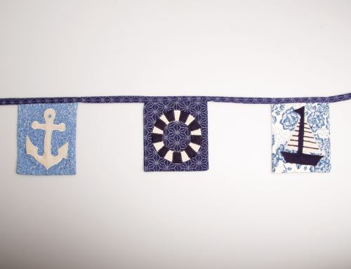 Sass and Belle In the Navy Stripy Nautical Fabric Bunting