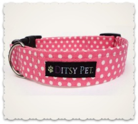 Ditsy Pet Rosie Polka Dot Collar and Leads