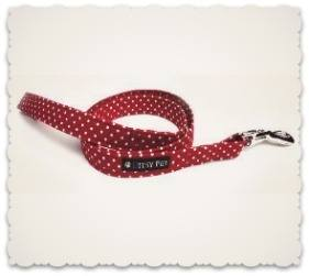Ditsy Pet Red Polka Dot Collar and Leads