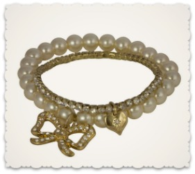 Vintage Style Bow Bracelets - Cream