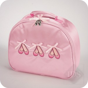 Satin Ballet Shoes Vanity Case and Ballet Bag