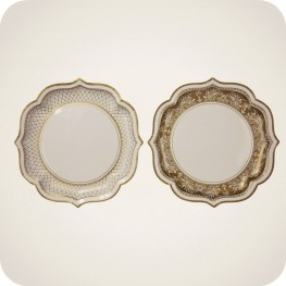 Party Porcelain Gold Great Gatsby Inspired Party Plates - Serving Plates