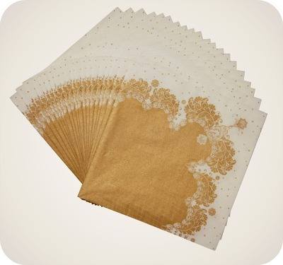 Party Porcelain Gold Great Gatsby Inspired Party Napkins