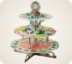 Pastries and Pearls Vintage Style Cake Stand