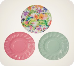 Floral Fiesta Canape Plates