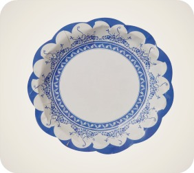 Party Porcelain Blue Paper Plates