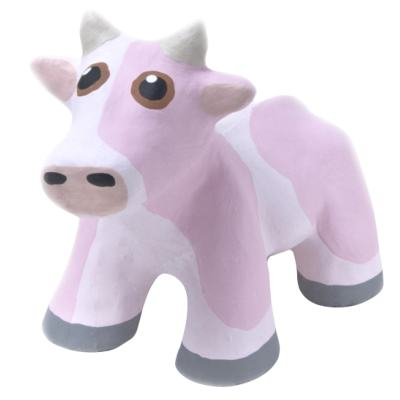 Mini Concrete Cow, Medium, Pink