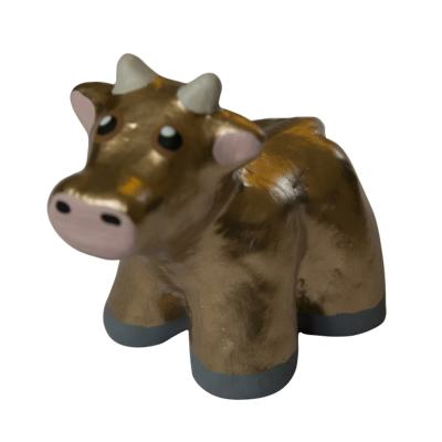 Mini Concrete Cow, Small, Gold