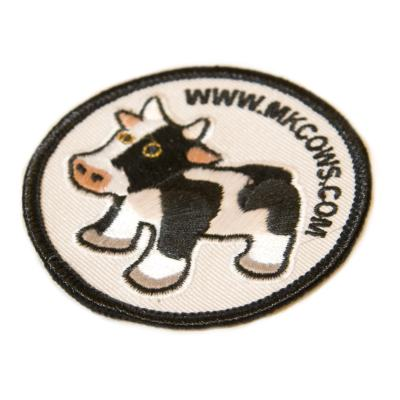 Sew-on Fabric MK Cow Badges