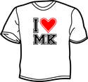 I Love Milton Keynes T-shirt (White)
