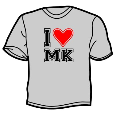 I Love Milton Keynes T-shirt (Grey)