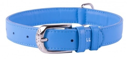 Soft Leather Blue Collar