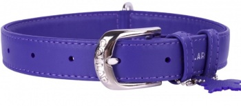 Soft Leather Violet Collar