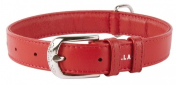Soft Leather Red Collar