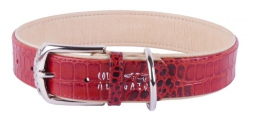 Alligator Red Dog Collar