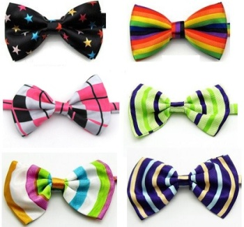 Multi colored Bow Ties