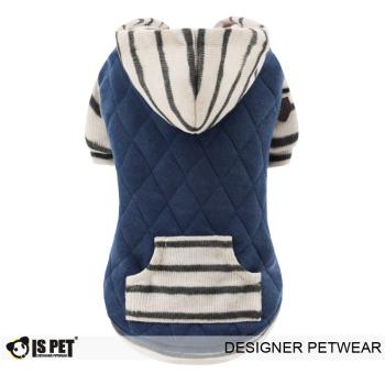 Charles quilted hoodie Navy - L