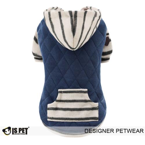 Charles quilted hoodie Navy