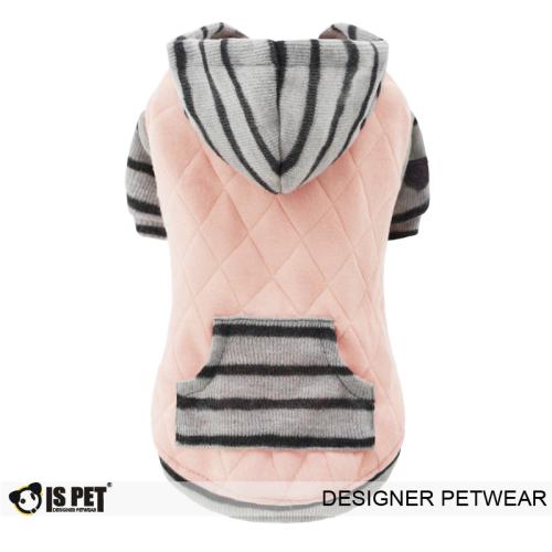 Charles quilted hoodie Pink
