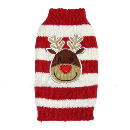 Reindeer sweater stripes