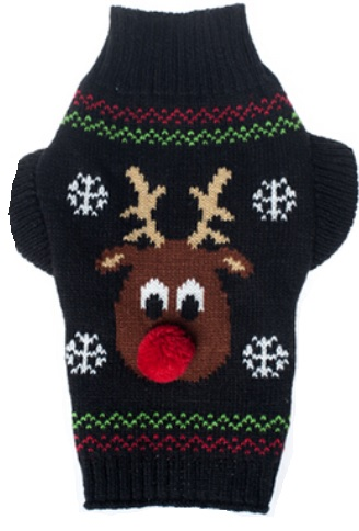 Reindeer sweater black