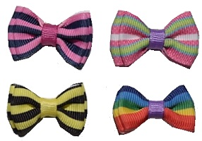 Bold Stripes Bow