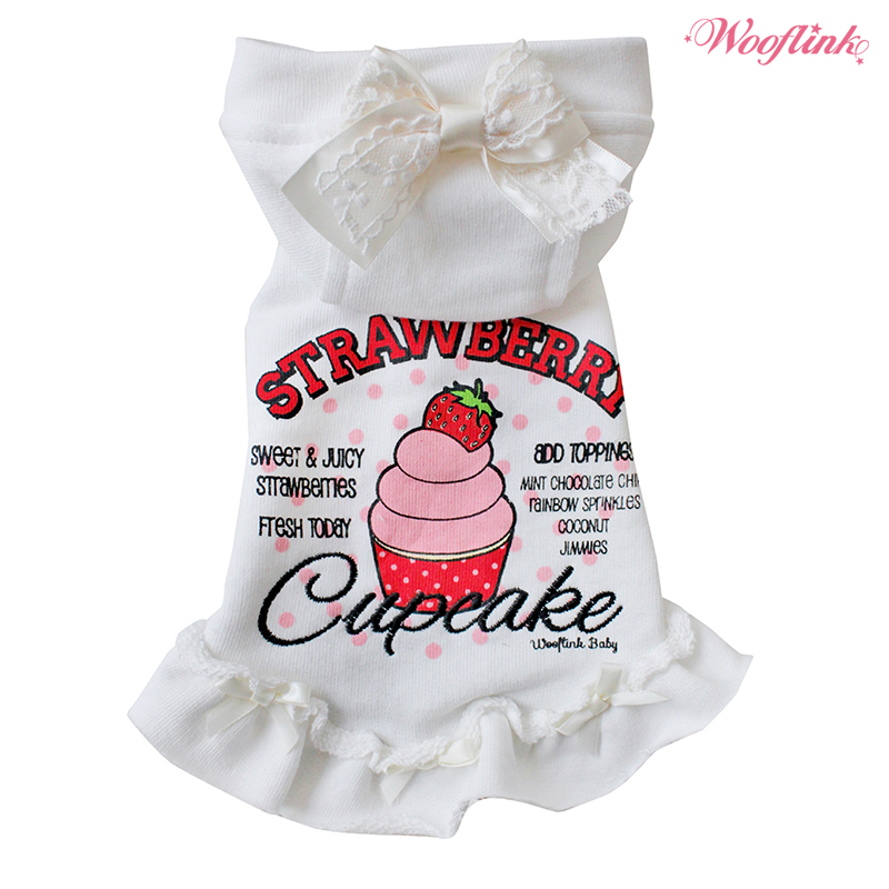 Strawberry cupcake Hoodie White - S