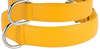 Soft Leather Yellow Collar