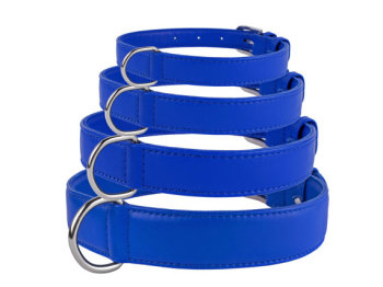 Soft Leather Electric Blue Collar