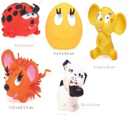 Latex dog toy XXS