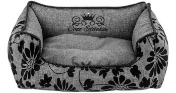 Noir Grey Dog Bed