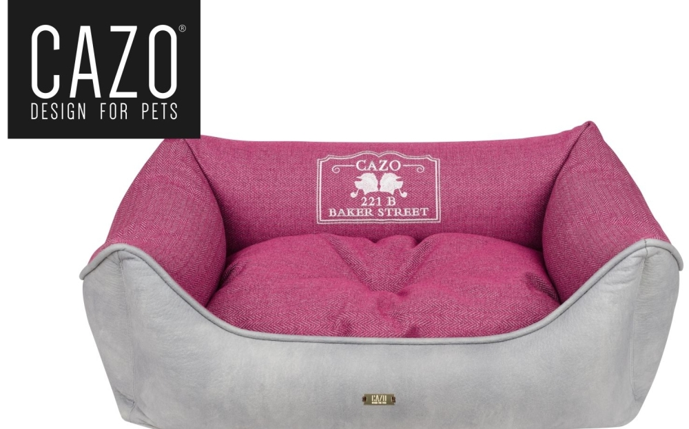 Baker Street Dog Bed Magenta Square