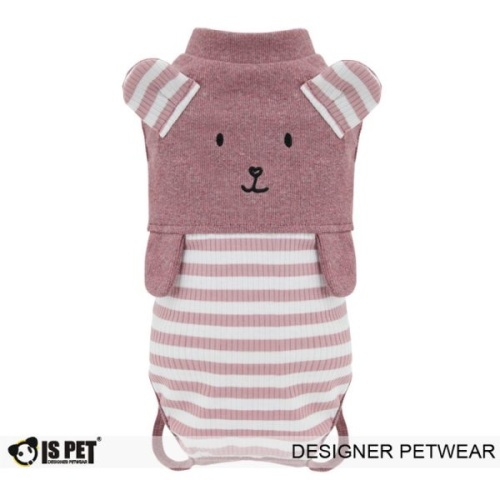Bear overalls Pink