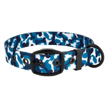 Camo Bone Collar Blue