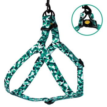 Step-in Nylon Harness Camo Mint