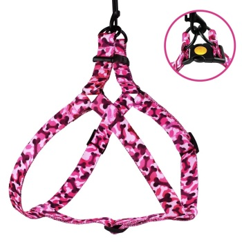 Step-in Nylon Harness Camo Pink
