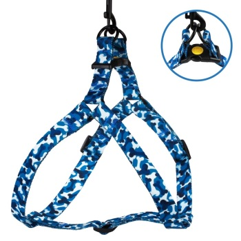 Step-in Nylon Harness Camo Blue