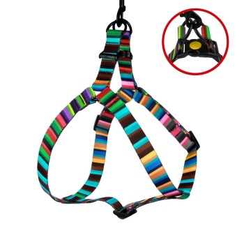 Step-in Nylon Harness Multicoloured Stripe