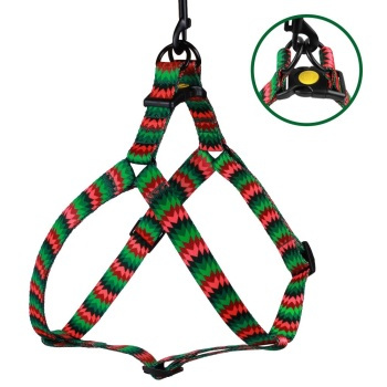 Step-in Nylon Harness ZigZag Red Green