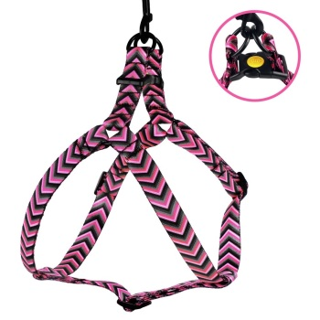 Step-in Nylon Harness Arrow Pink