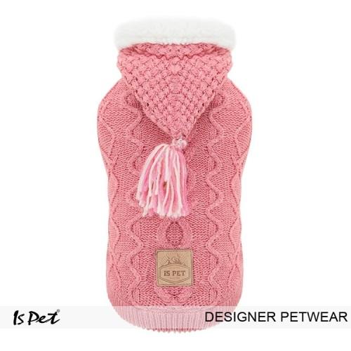 Knitted Hoodie pink