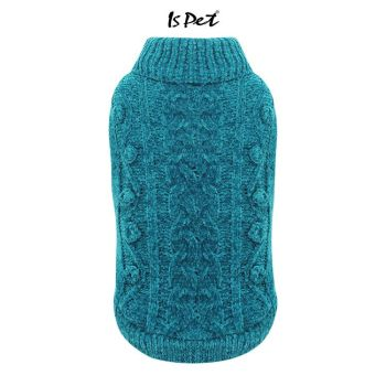 Velour Knit Sweater Teal