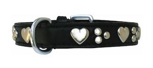Silver Heart Black