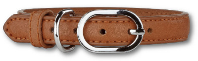 Soft Leather Brown Collar