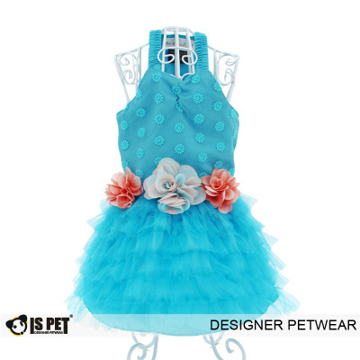 Floral dress blue - xl