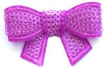 Neon Sequins Bow