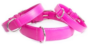 Soft Leather Pink Collar