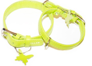 Soft Leather Lime Collar