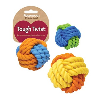 Rubber & Rope Ball 3.25'